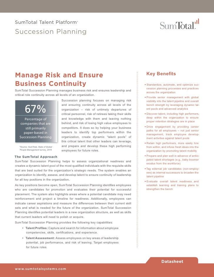 Sumtotal Succession Planning Software