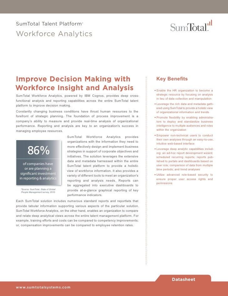 Sumt Workforce Analytics Software