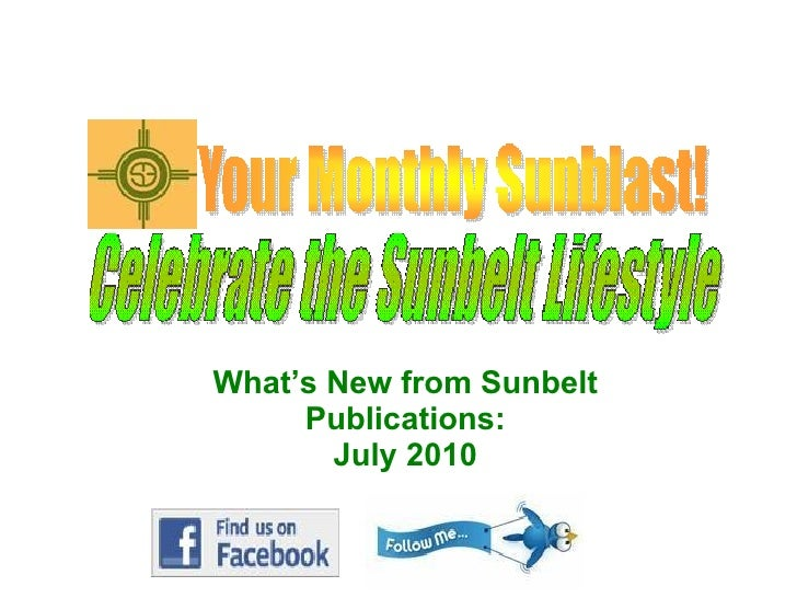 What's New from Sunbelt Publications: July 2010