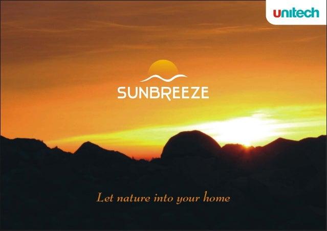 Unitech Sunbreeze Gurgaon brochure