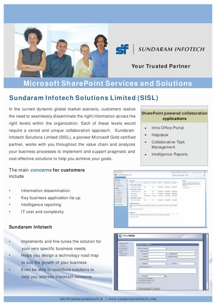 Microsoft SharePoint Services and Solutions from Sundaram Infotech