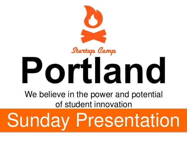 We believe in the power and potential of student innovation  Clear16 launch!!  Sunday Presentation