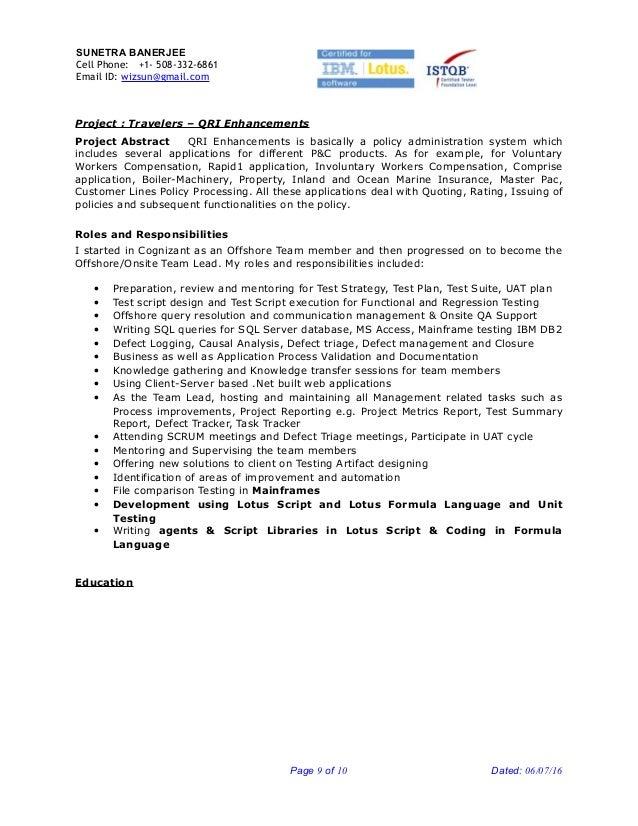 senior qa engineer sample resume qa engineer resume