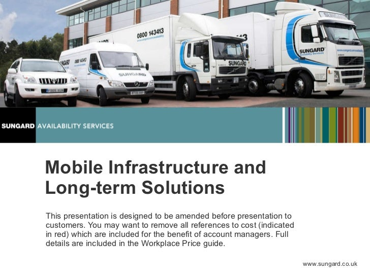 Mobile Infrastructure and Long-term Solutions This presentation is designed to be amended before presentation to customers...