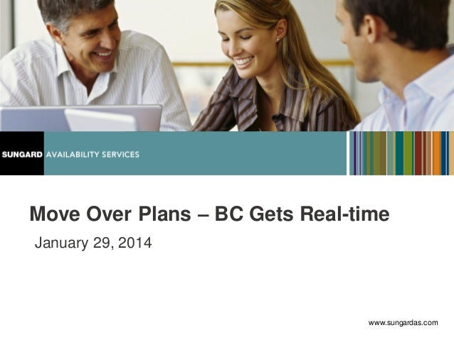 Move Over Plans – BC Gets Real-time January 29, 2014  www.sungardas.com