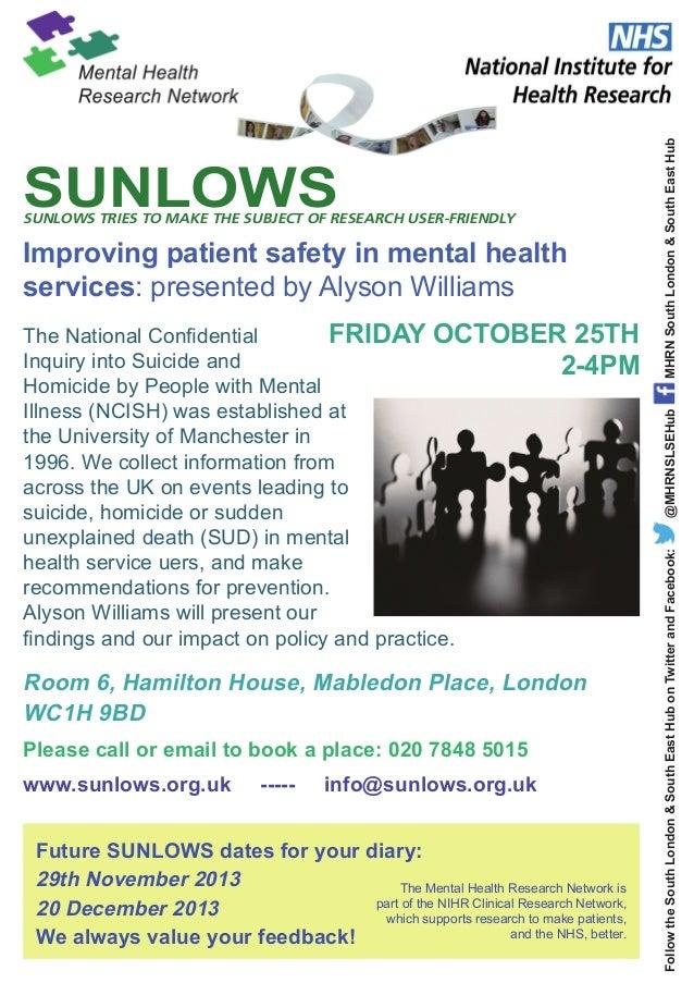 SUNLOWS seminar October 13