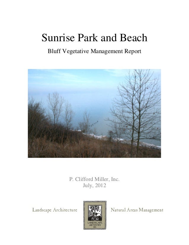 Sunrise Park Vegetative Management Report