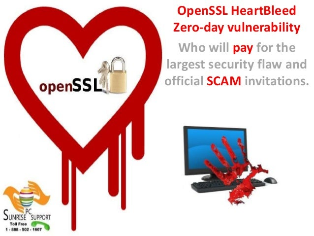 OpenSSL HeartBleed Zero-day vulnerability Who will pay for the largest security flaw and official SCAM invitations.