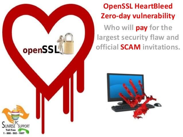 Sunrise pc support heart bleed scam alert
