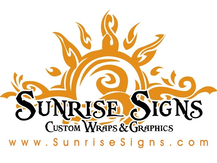 Sunrise signs: What Makes a Vehicle Wrap