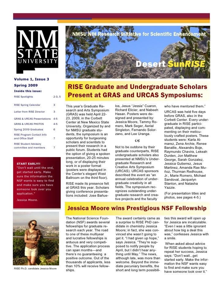 NMSU NIH Research Initiative for Scientific Enhancement                                         Busi ne ss Name           ...