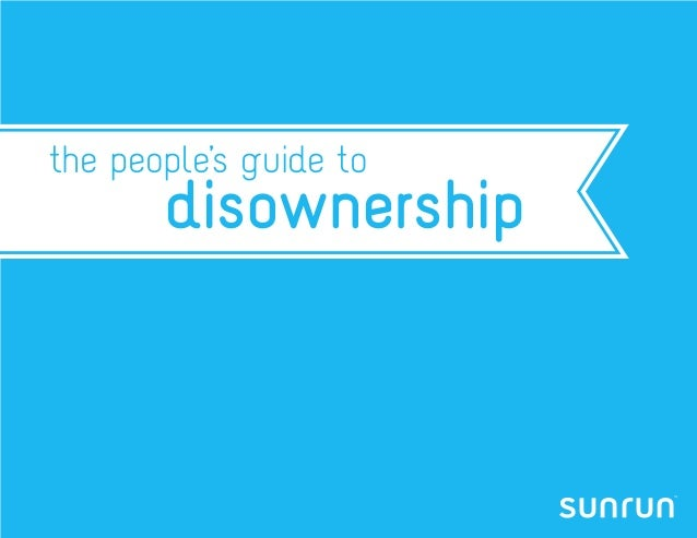 the people's guide to       disownership