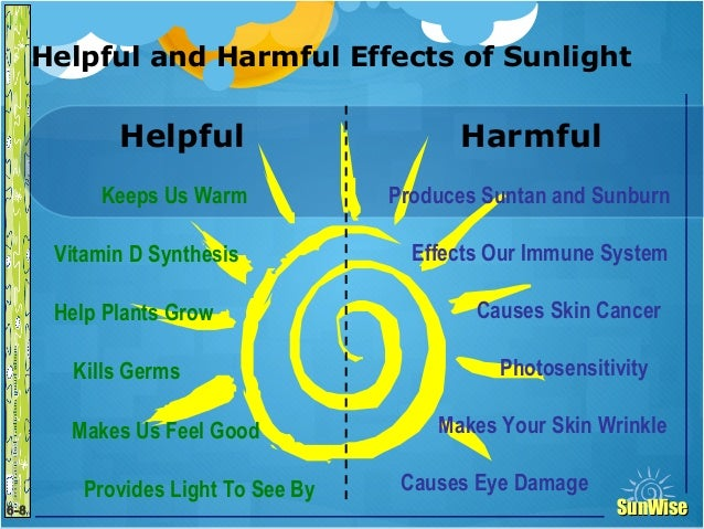 the effects of sun exposure to Sun exposure most of us avoid the sun due to cancer risks, premature aging, and other medical reasons our lifestyle today is not conducive to getting sun exposure, especially for our kids generation, due to so much dependence on our technological devices.