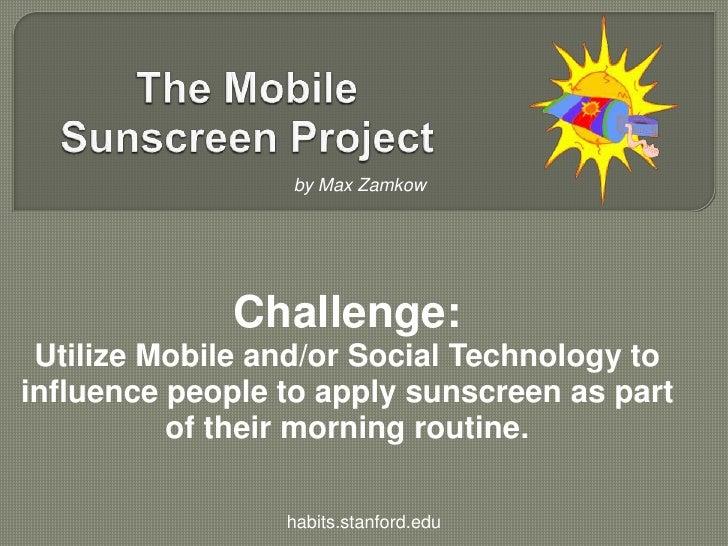 Mobile Sunscreen