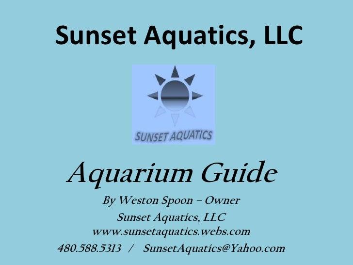 Sunset Aquatics, LLC Aquarium Guide