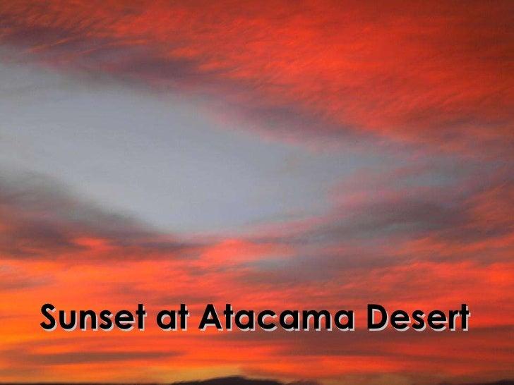 Sunset at Atacama (Cejar lagoon)