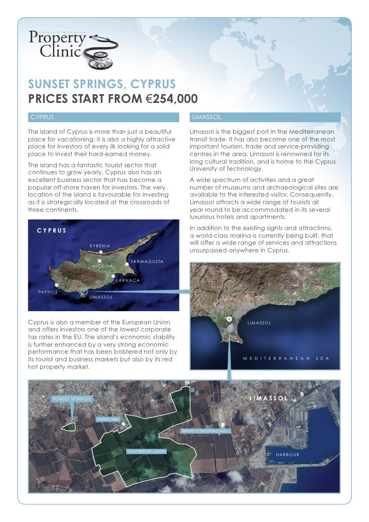 SunSet SpringS, CypruS priCeS Start from €254,000 Cyprus                                                               Lim...