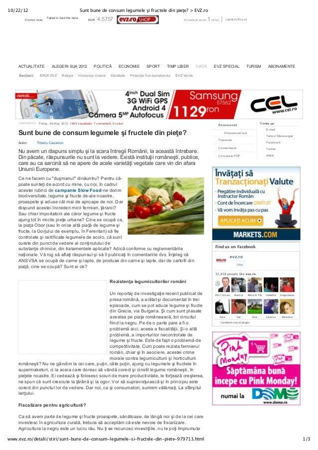 10/22/12                                           Sunt bune de consum legumele şi fructele din pieţe? > EVZ.ro           ...