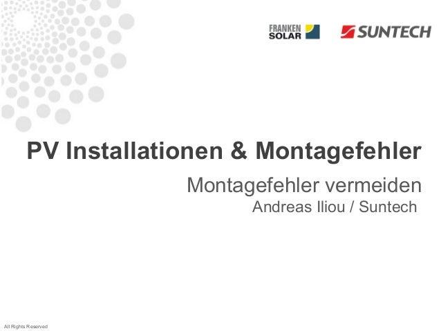 PV Installationen & Montagefehler                      Montagefehler vermeiden                            Andreas Iliou / ...