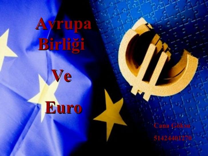 Avrupa Birliği  Ve  Euro Cana Göksu 51424401270