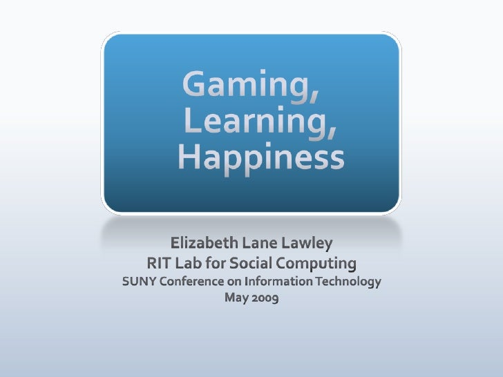 Suny CIT Gaming And Learning