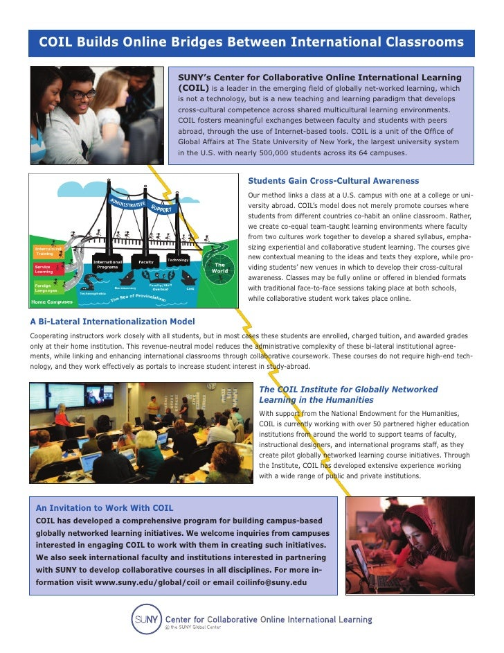 Developing Globally Networked Courses - Share the Experience of the SUNY COIL Center (Poster 1)