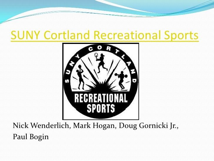 SUNY Cortland Recreational Sports<br />Nick Wenderlich, Mark Hogan, Doug Gornicki Jr., <br />Paul Bogin<br />