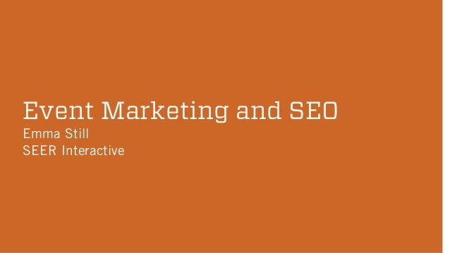 Making the Most of Your Event through SEO