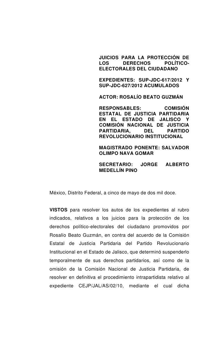 JUICIOS PARA LA PROTECCIÓN DE                       LOS     DERECHOS     POLÍTICO-                       ELECTORALES DEL C...