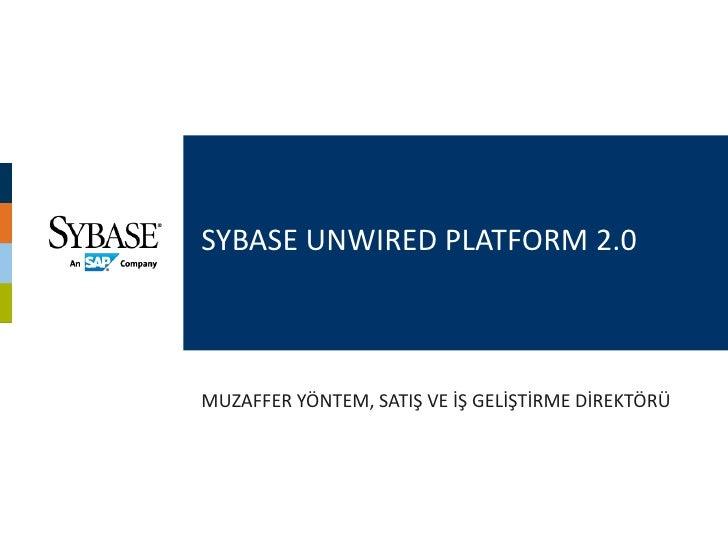 Sybase SUP Mobil Uygulama Geliştirme Genel Bilgilendirme