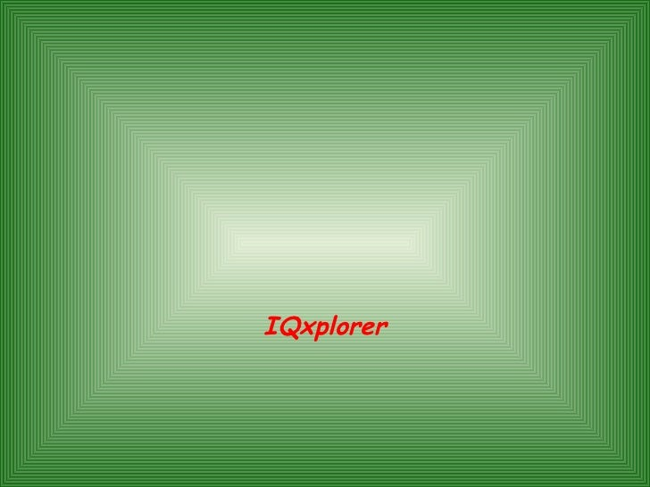 Supercomputer Performance Characterization Presented By: IQxplorer