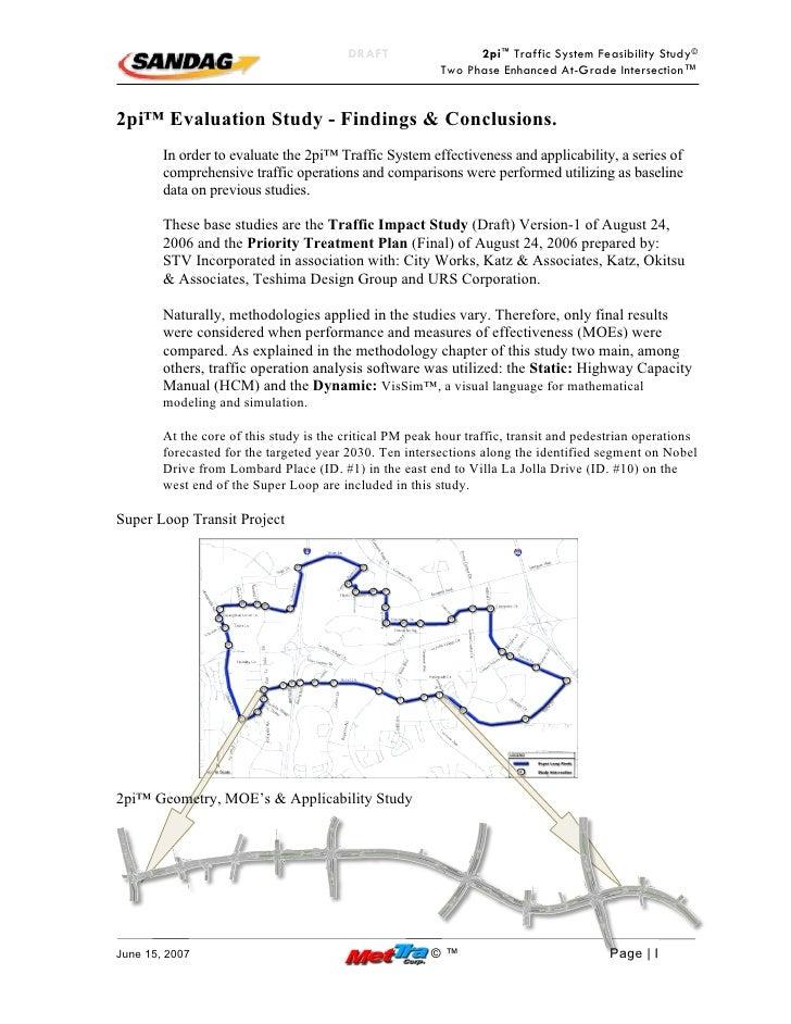 DRAFT                  2pi™ Traffic System Feasibility Study©                                                           Tw...