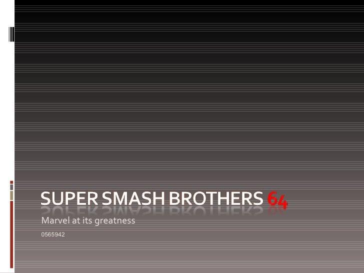 0565942- Super Smash Brothers 64