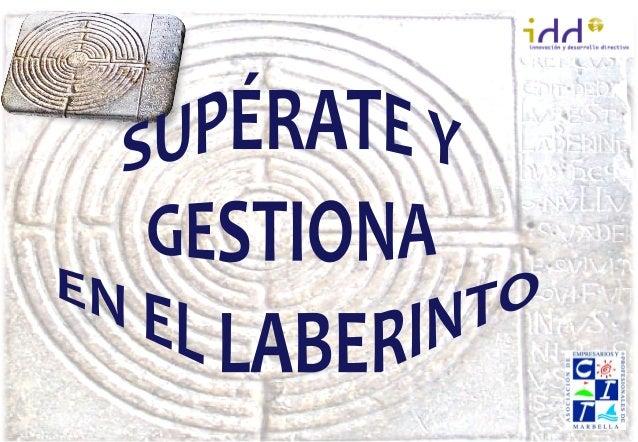 """Conferencia sobre """"Gestión y superación en el laberinto"""" impartida por D. Jaime Tomás"""