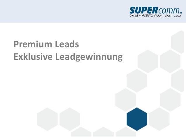Premium LeadsExklusive Leadgewinnung
