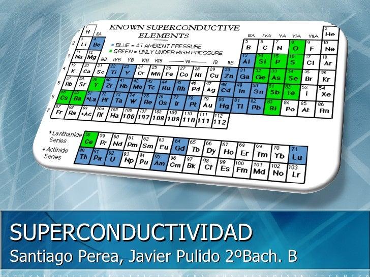 SUPERCONDUCTIVIDAD Santiago Perea, Javier Pulido 2ºBach. B