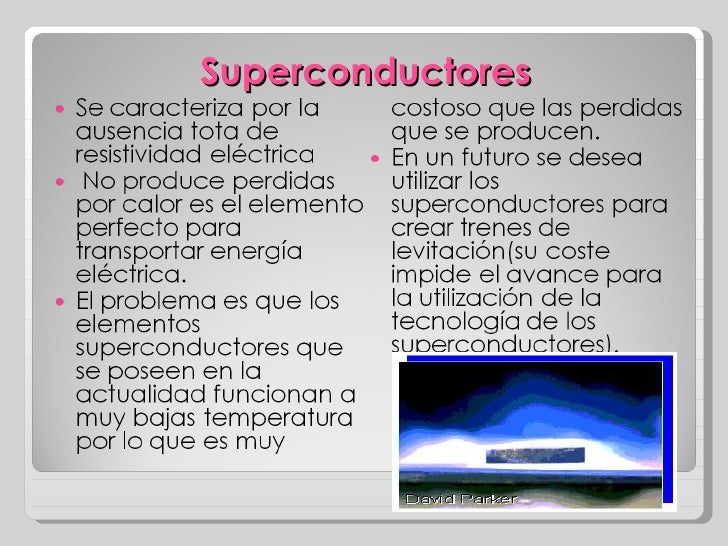 Resultado de imagen para superconductores ejemplos