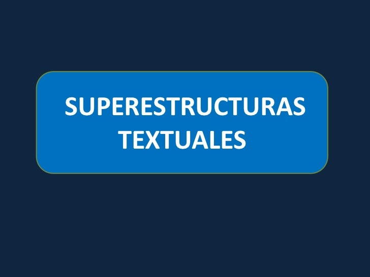 Superestructura textual