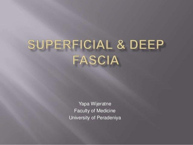 Yapa Wijeratne Faculty of Medicine University of Peradeniya