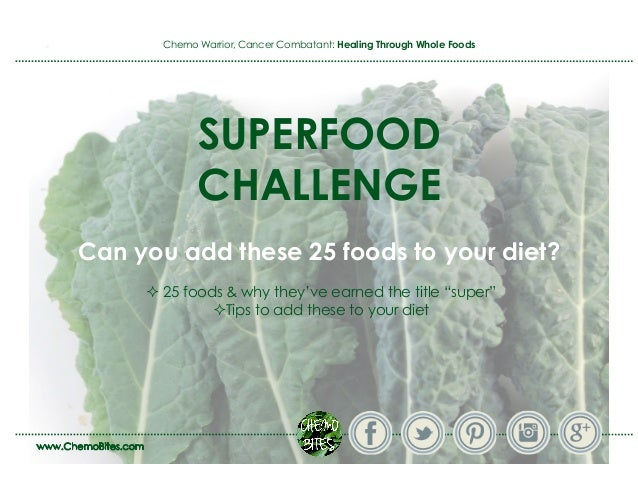 Super Foods Challenge - Can you add these to your diet to boost your health?