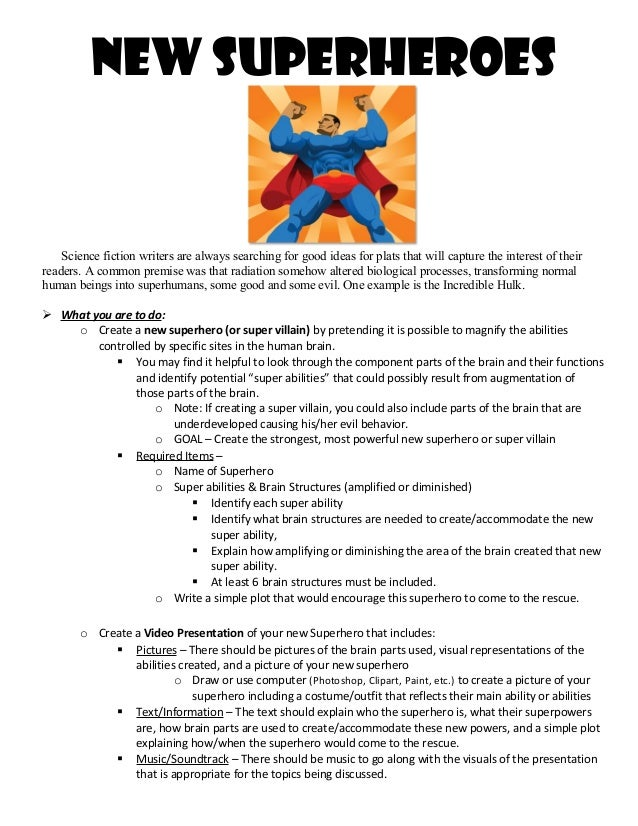 Superhero assignment test