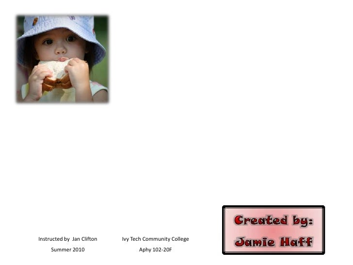 Created by:<br />Jamie Haff<br />Instructed by  Jan Clifton<br />Summer 2010<br />Ivy Tech Community College<br />Aphy 102...