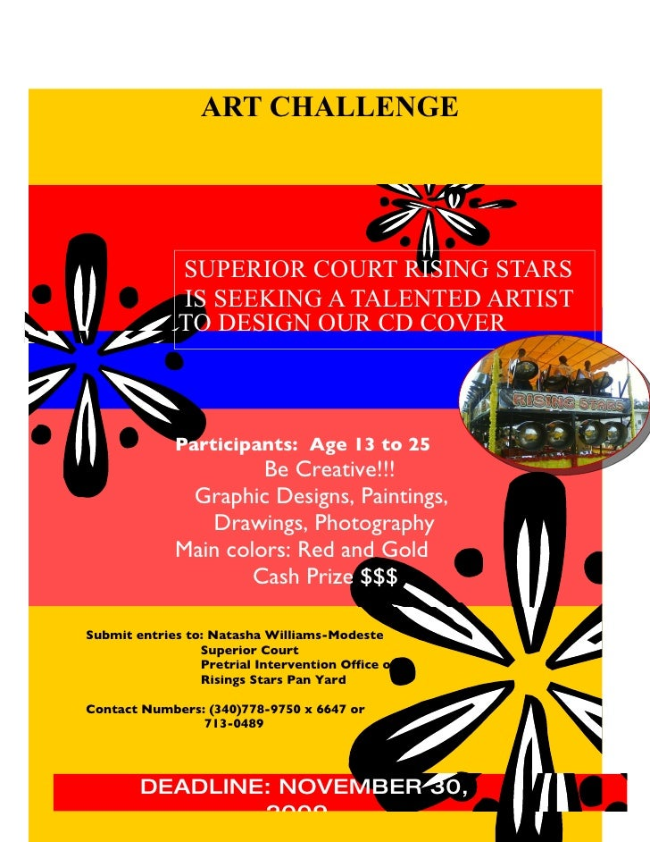 Superior  Court (STX)  Rising  Stars  Art  Challenge  Flyer