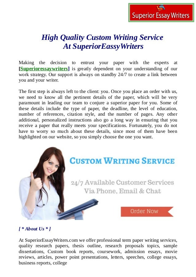 the best custom essay writing service We provide cheap custom essay writing services around the clock the best writers, the lowest price and a set of guarantees – what else is there to wish for.