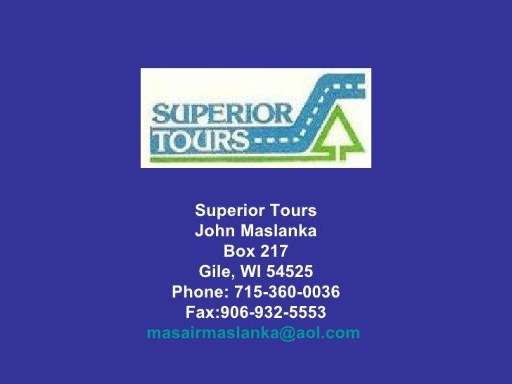 Superior Tours Brochures
