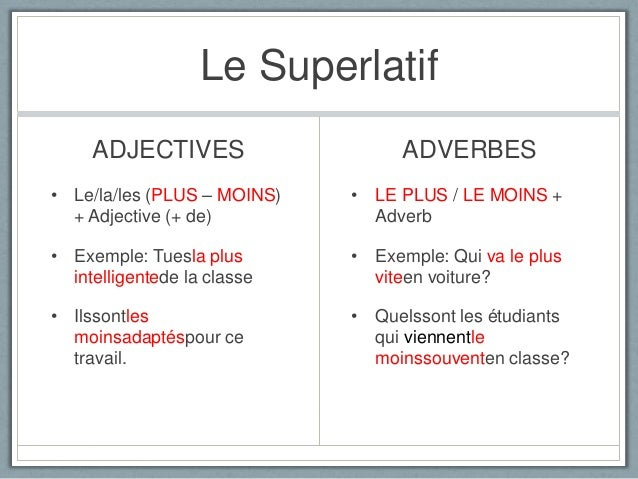 exemple de superlatif absolu