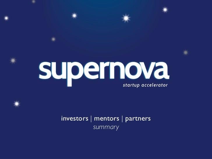 Supernova Startup Accelerator
