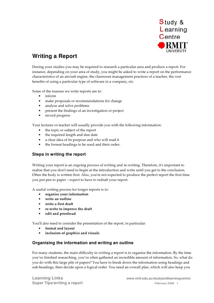 Writing a ReportDuring your studies you may be required to research a particular area and produce a report. Forinstance, d...