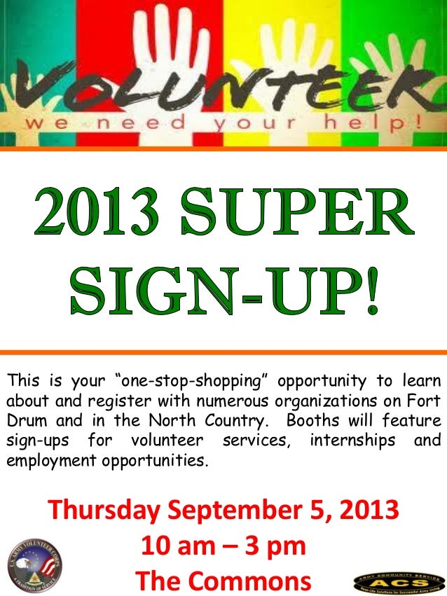 """Thursday September 5, 2013 10 am – 3 pm The Commons This is your """"one-stop-shopping"""" opportunity to learn about and regist..."""