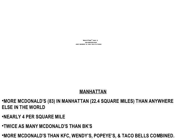 Statistics Of Fast Food Restaurants Per Square Mile